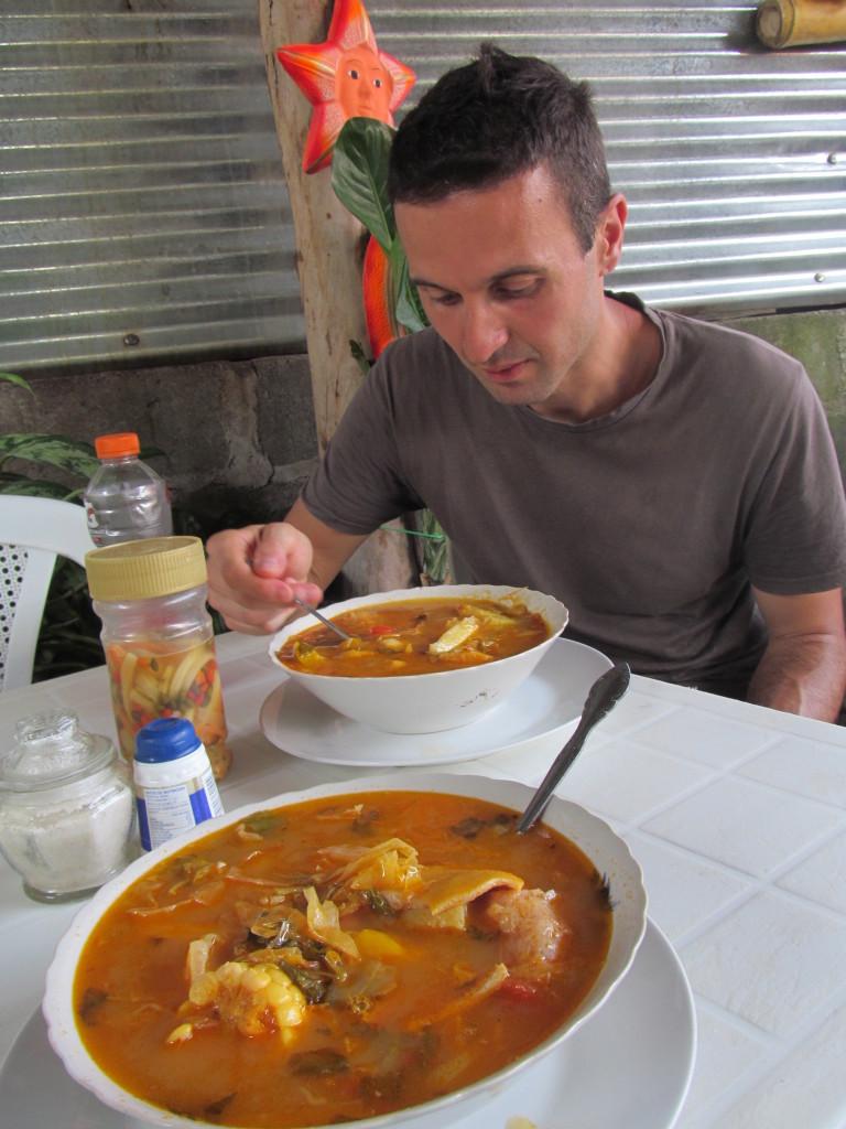 Nicaragua, Isla de Ometepe, Sopa de Mondongo Tradicional