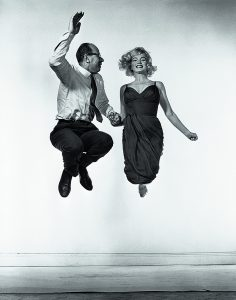 American actress Marilyn MONROE with American photographer Philippe HALSMAN.